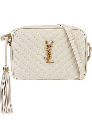 Saint Laurent Medium Lou Monogramme Bag in Neutral