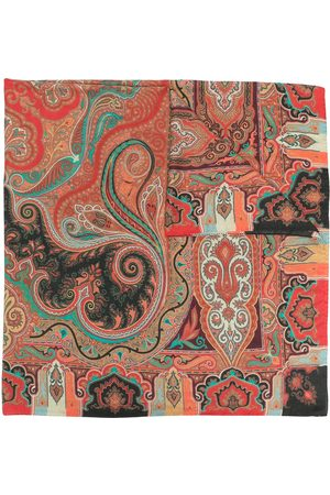 Etro Paisley print silk-cashmere blend scarf