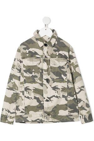 Zadig & Voltaire Kids Camouflage-print denim jacket - Neutrals