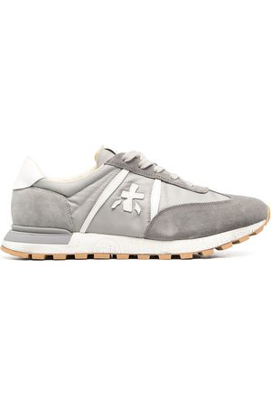 Premiata Low-top lace-up suede trainers - Grey