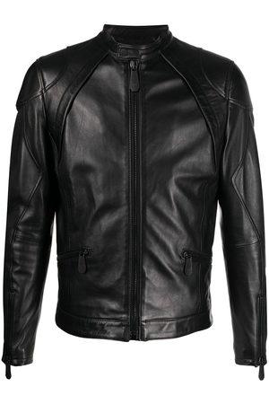 Philipp Plein Men Leather Jackets - Moto leather jacket