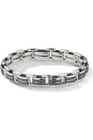 David Yurman 7.5mm Beveled link diamond bracelet