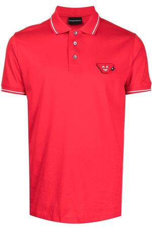 Emporio Armani Logo-patch cotton polo shirt