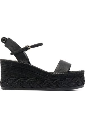 Salvatore Ferragamo Women Wedges - Raffia wedge sandals
