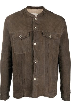 Giorgio Brato Distressed-effect suede leather jacket