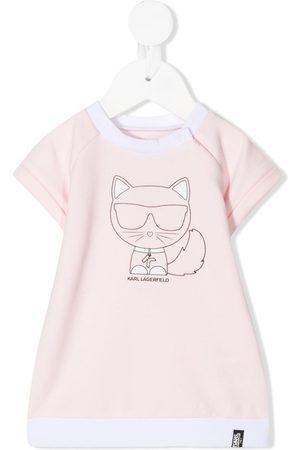 Karl Lagerfeld Kids Choupette-print T-shirt dress
