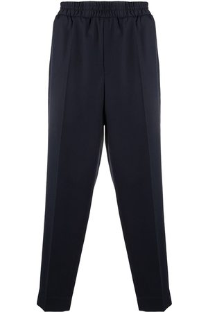 Etudes Men Straight Leg Pants - Pressed-crease elasticated-waist trousers