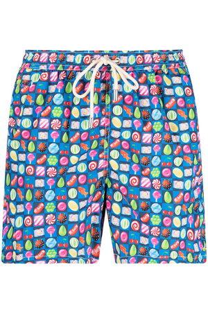 Mc2 Saint Barth Men Swim Shorts - Candy-print swim shorts