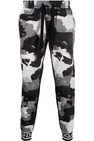 Dolce & Gabbana Camouflage-print drawstring track pants