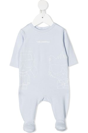 Karl Lagerfeld Kids Logo-print stretch-cotton pyjamas