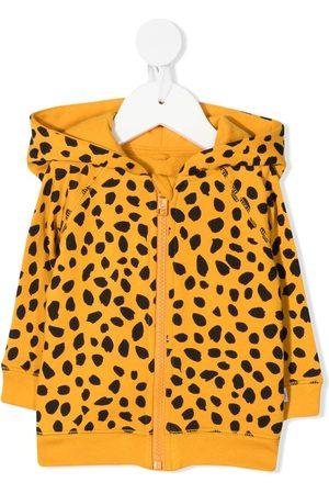 Stella McCartney Kids Hoodies - Cheetah-print organic-cotton hoodie
