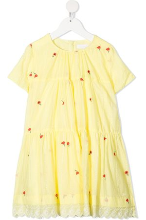 Chloé Kids Floral-embroidered dress