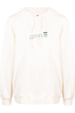MSGM Fantastic Green Future-print hoodie - Neutrals
