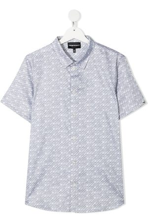 Emporio Armani Kids TEEN all-over print short-sleeve shirt