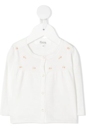 Bonpoint Cherry-print cotton cardigan