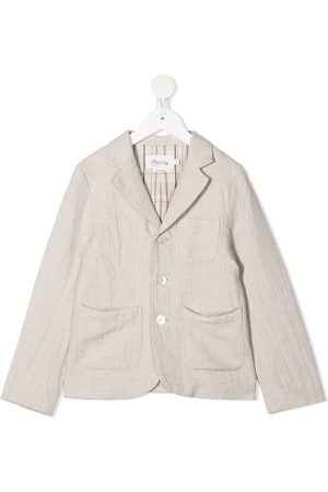 Bonpoint Linen-cotton blend blazer jacket - Neutrals