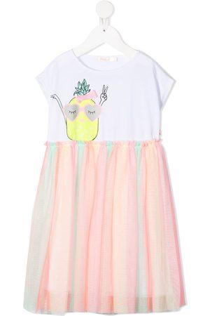 Billieblush Pineapple print tulle hem dress