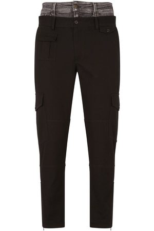 Dolce & Gabbana Double-waist straight-leg trousers