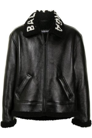 Balenciaga Cocoon leather aviator jacket