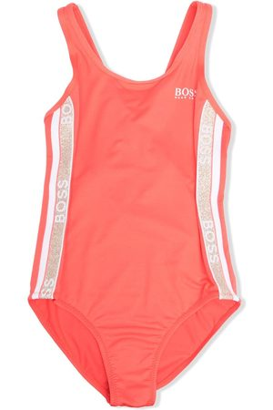 BOSS Kidswear Girls Swimsuits - Logo-tape one-piece swimsuit