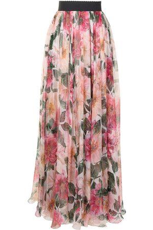 Dolce & Gabbana Women Printed Skirts - Floral-print full skirt
