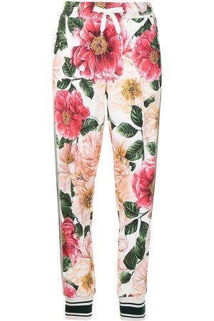 Dolce & Gabbana Women Sweatpants - Floral-print track pants - Multicolour