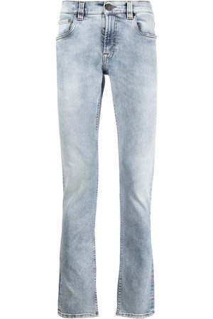 Etro Men Bootcut - Embroidered light wash jeans