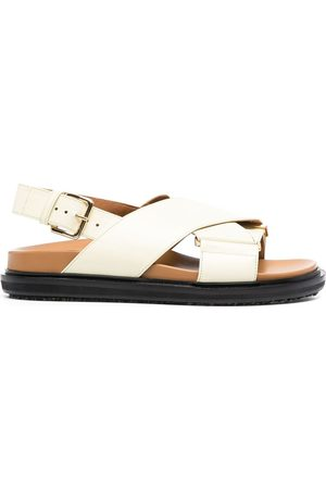 Marni Fussbett criss-cross sandals - Neutrals