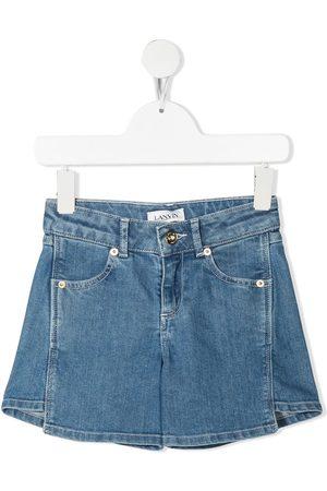 LANVIN Enfant Girls Shorts - Panelled denim shorts