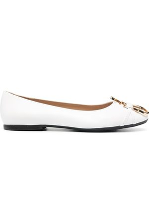 JW Anderson Women Ballerinas - Anchor-logo detail ballerina shoes