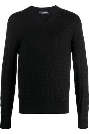 Dolce & Gabbana Men Sweatshirts - Tonal-logo knit jumper