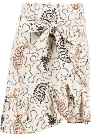 Isabel Marant Étoile Paisley print asymmetric skirt - Neutrals