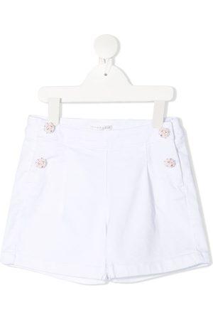Charabia Girls Shorts - Embellished button shorts