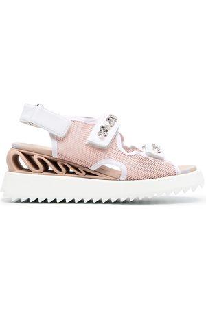 Le Silla Women Sandals - Yui Wave slingback flatform sandals