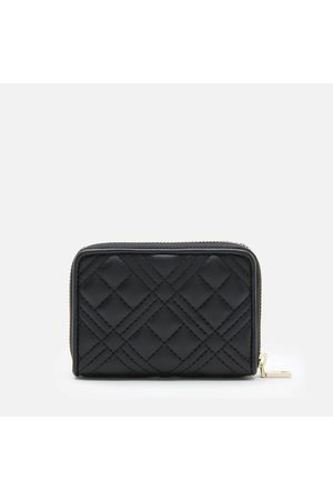 Love Moschino Women Wallets - Women's Quilted Small Zip Around Wallet