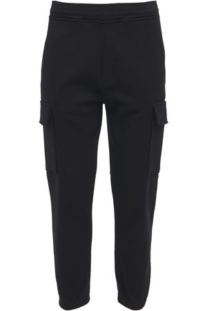 Neil Barrett Skinny Stretch Viscose Cargo Sweatpants