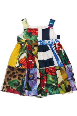 Dolce & Gabbana Girls Printed Dresses - Printed Cotton Dress & Diaper Cover
