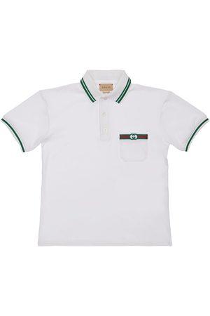 Gucci Stretch Cotton Piqué Polo Shirt