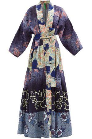 Rianna + Nina Women Bathrobes - Patchwork Vintage-silk Robe - Womens - Multi