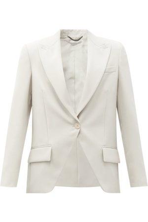 Stella McCartney Lindsay Single-breasted Wool-twill Jacket - Womens - Grey