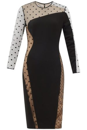 Stella McCartney Arielle Cady And Polka-dot-flocked Tulle Dress - Womens