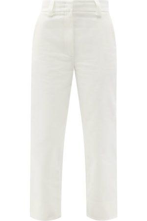 Moncler Women Pants - Cotton-gabardine Cropped Trousers - Womens