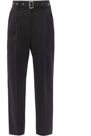 Proenza Schouler Belted Wool-blend Tapered Trousers - Womens
