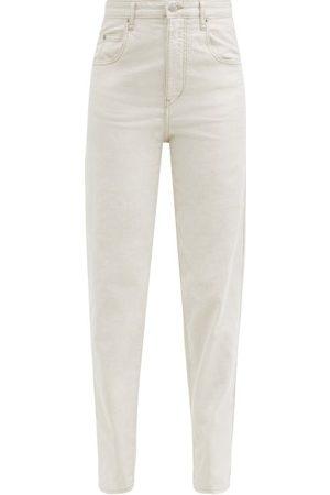 Isabel Marant Women Boyfriend Jeans - Corfy High-rise Tapered-leg Jeans - Womens - Ivory