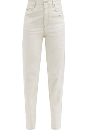 Isabel Marant Women High Waisted - Corfy High-rise Tapered-leg Jeans - Womens - Ivory