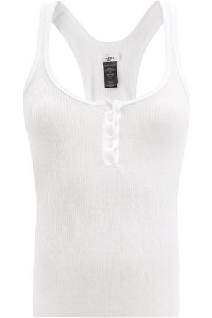 Isabel Marant Women Tank Tops - Louisalic Ribbed Cotton Tank Top - Womens