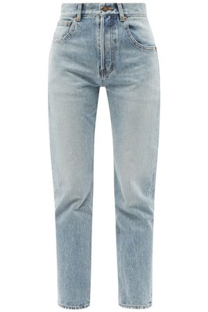 Saint Laurent Women High Waisted - High-rise Straight-leg Jeans - Womens - Denim