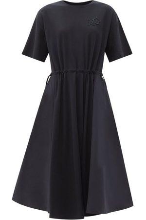 Moncler Shell-panel Cotton-jersey Dress - Womens - Navy