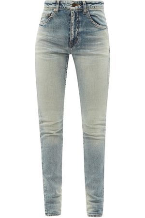Saint Laurent High-rise Skinny-leg Jeans - Womens - Light Denim