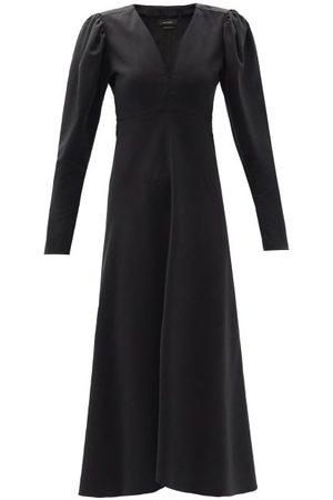 Isabel Marant Silabi Puff-sleeve Crepe Midi Dress - Womens